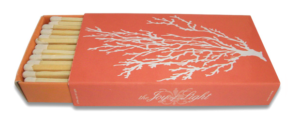 The Joy Of Light Coral Embossed Matches (4 inches)