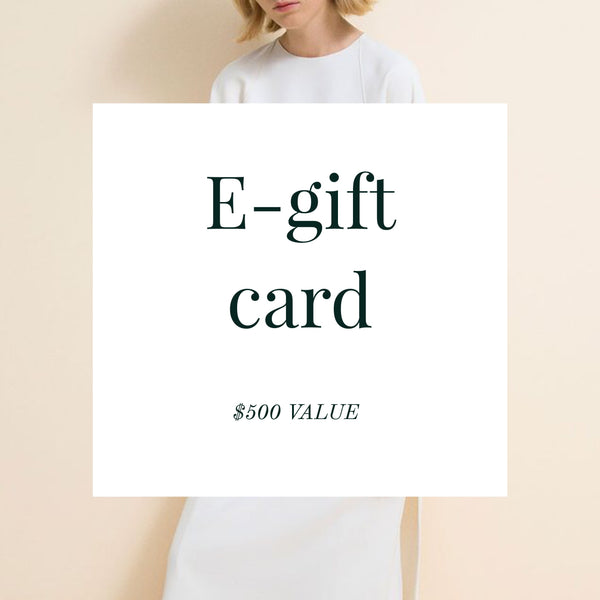E-gift card ($500 Value)