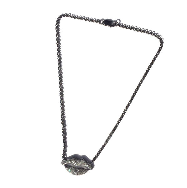 VINTAGE COLLECTIONS Diamond Lip Necklace