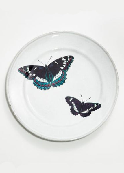 ASTIER DE VILLATTE <br/> John Two Flying Butterflies Plate