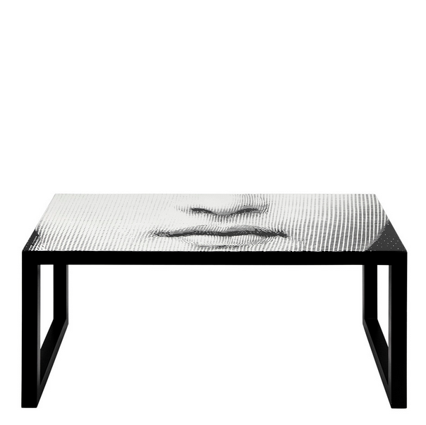 Fornasetti Rectangular Gigogne Table Tema Black & White