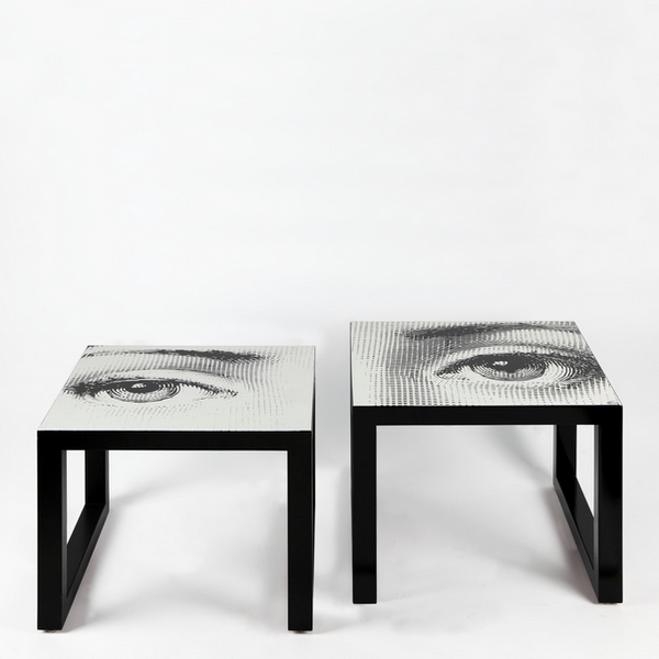 Fornasetti Square Gigogne Table Tema Black & White (Left)