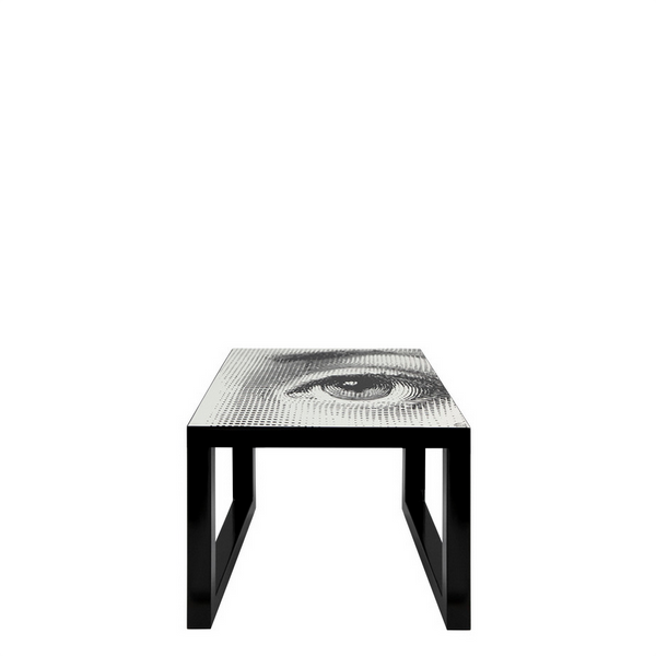 FORNASETTI <br/> Square Gigogne Table Tema Black & White (Left)