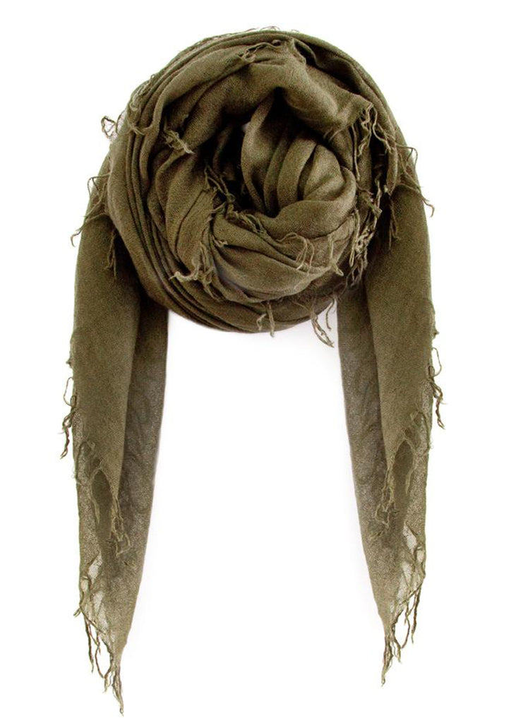 CHAN LUU Cashmere And Silk Scarf (Olive)