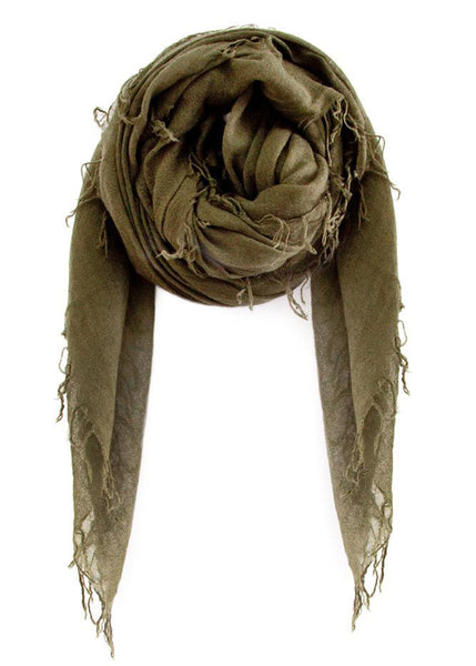 CHAN LUU <br/> Cashmere And Silk Scarf - Olive