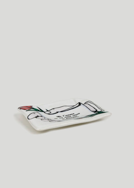 FORNASETTI Rectangular Ashtray Messaggio D'amore