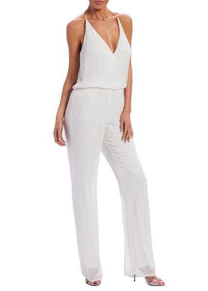 Stacey Embroidered Jumpsuit (Ivory)