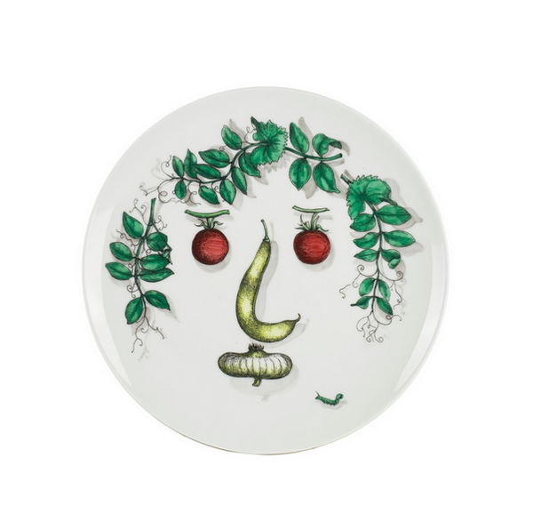 FORNASETTI Set of 6 Plates Arcimboldesca