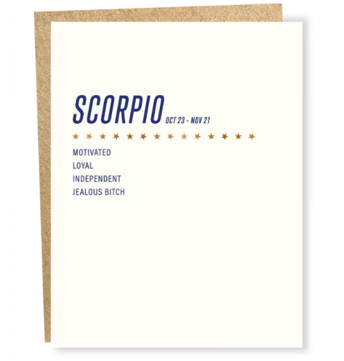 Sapling Press - Scorpio Birthday Card