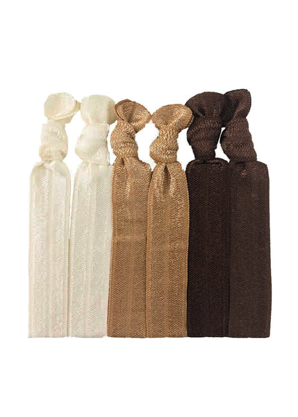 Jane Tran Assorted Knotted Hair Ties 'F'