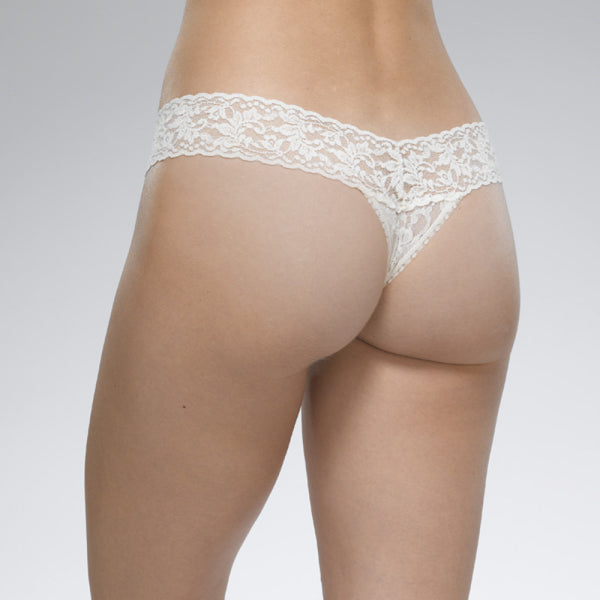 HANKY PANKY - Signature Lace Low Rise Thong - White (O/S)