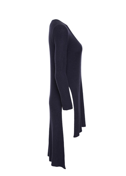 ARJÉ - Santorini Layered V-Neck Knit (Midnight)