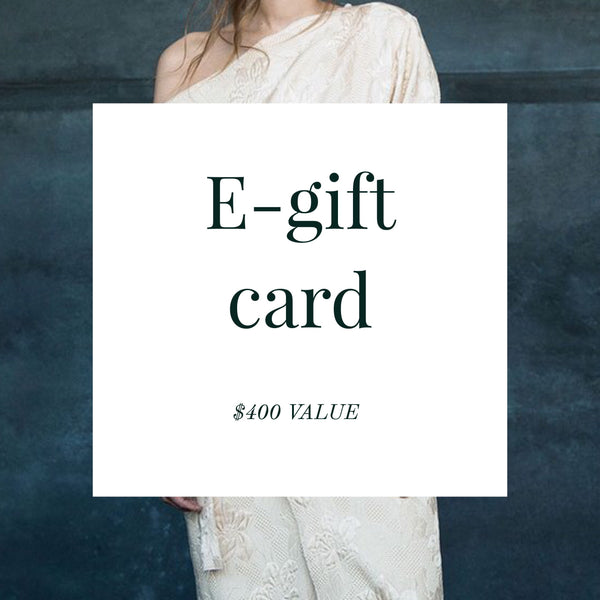 E-gift card ($400 Value)