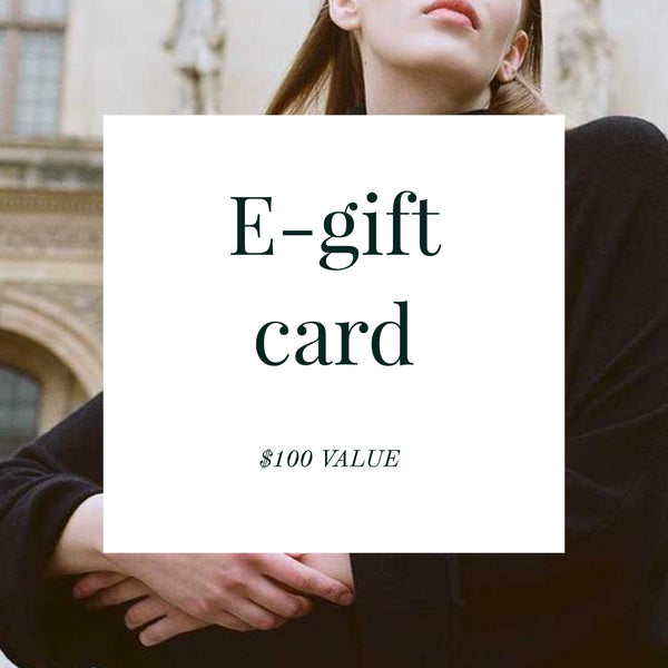 E-gift card ($100 Value)