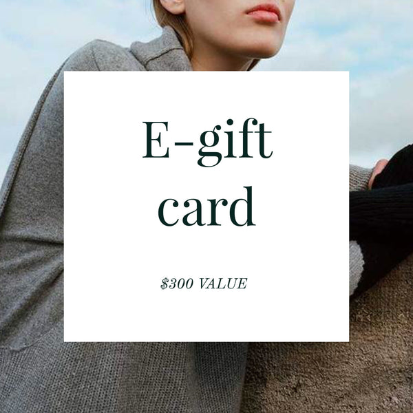 E-gift card ($300 Value)