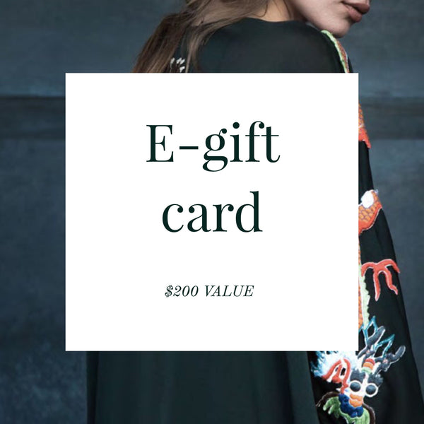 E-gift card ($200 Value)