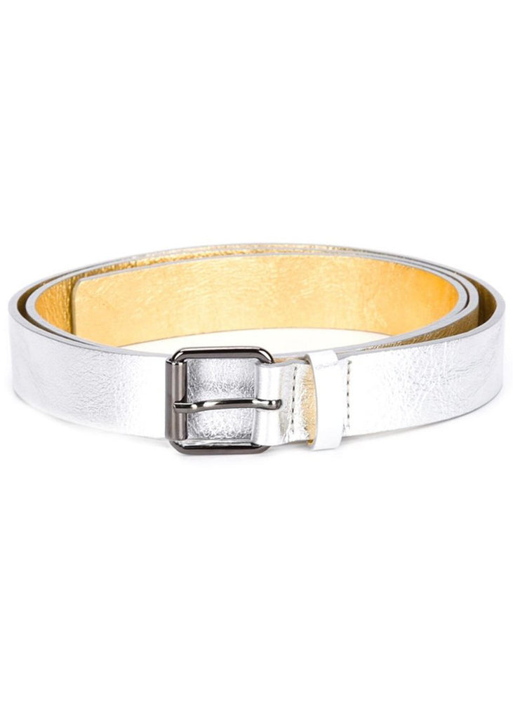 SOFIE D'HOORE Veneto Leather Bi Color Belt (Silver/Gold)