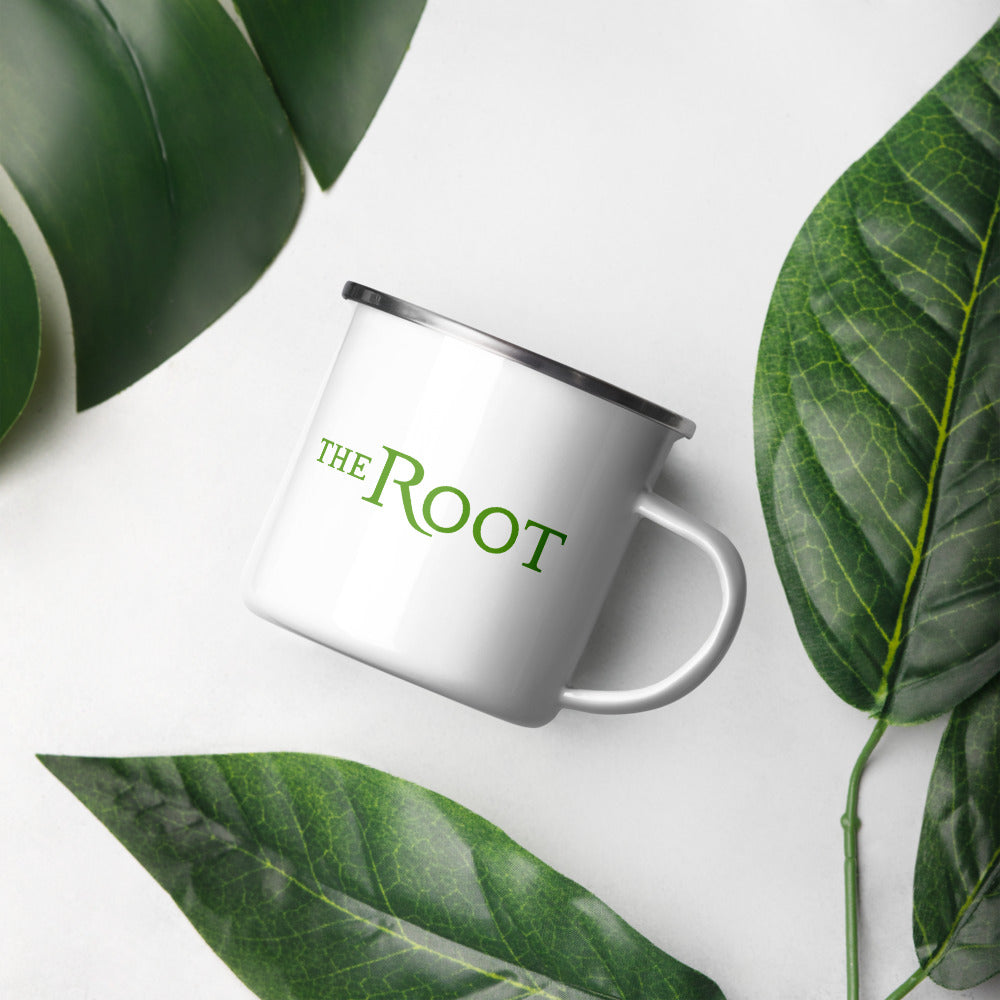The Root Logo Enamel Mug