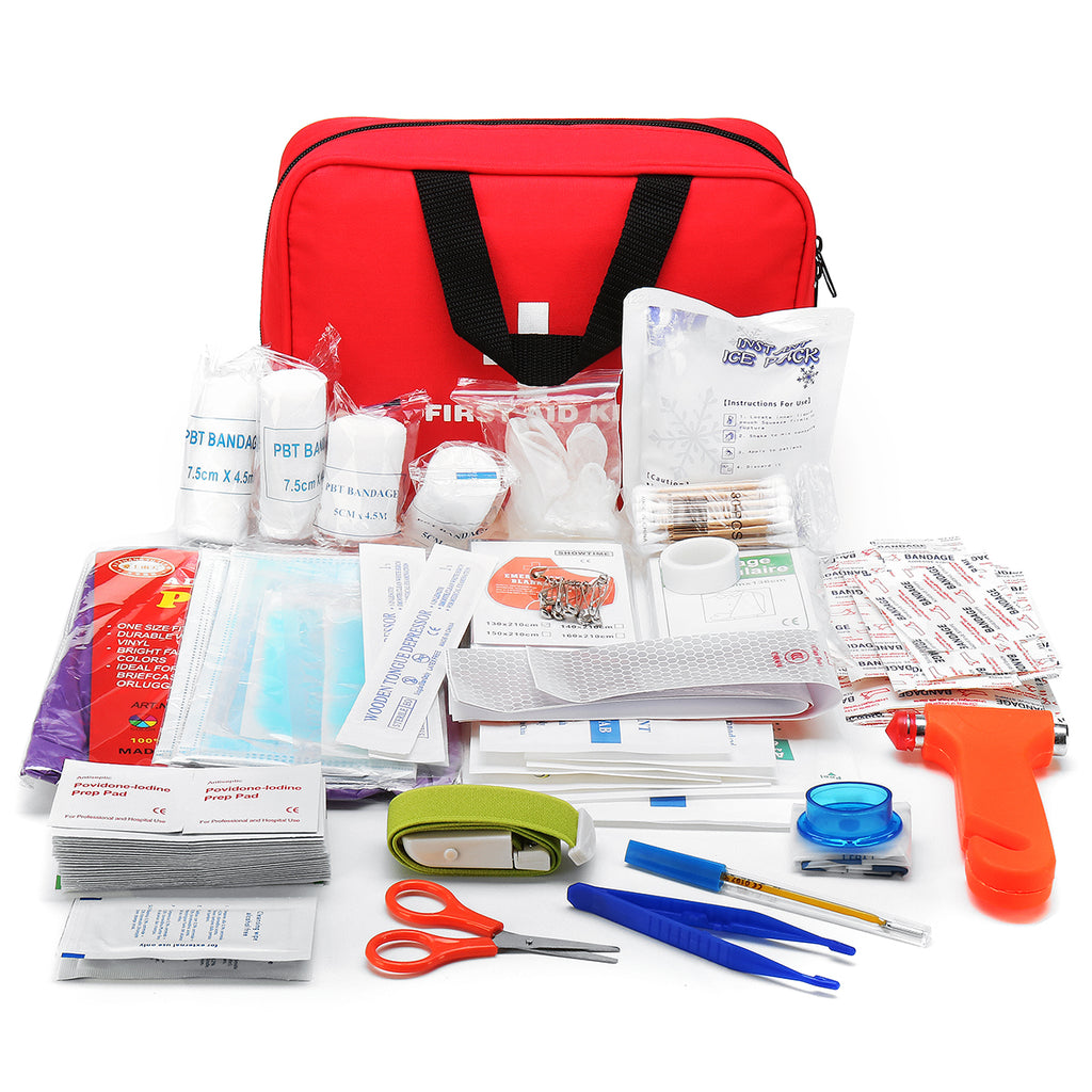 BeReady 234Pcs Upgraded Outdoor Emergency Survival Kit Gear SOS First Aid Kit for Home Office Boat Camping Hiking