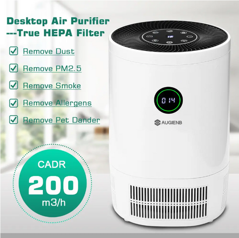 NatureFlow Remove Viruses, Bacteria, Odors, & Smoke From Air - Activated Charcoal Home Air Purifier HEPA Filter