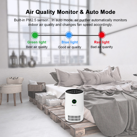 NatureFlow™ Remove Viruses, Bacteria, Odors, & Smoke From Air - Activated Charcoal Home Air Purifier HEPA Filter