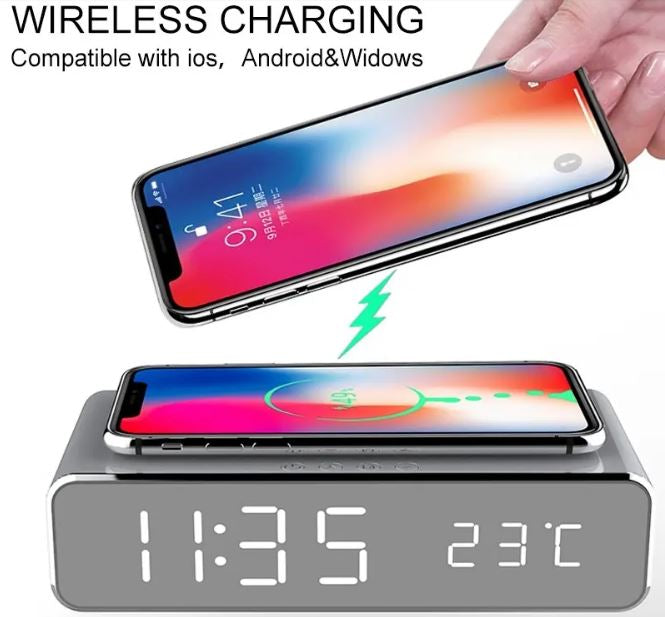 alarm clock with usb charger,bedside alarm clocks,best alarm clock with wireless charging,best digital alarm clock,best digital clock,cool digital clocks,cubietime