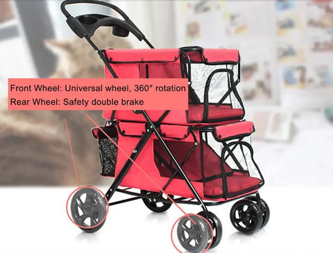 PetPush Breathable Pet Stroller Carrier