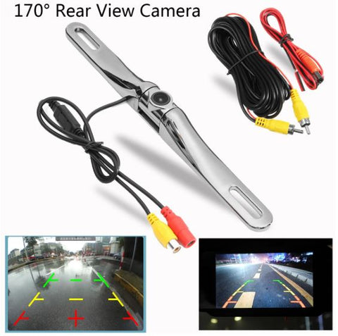 BackupAssist 170 Degree Car License Plate Rear View Reversing Backup Camera