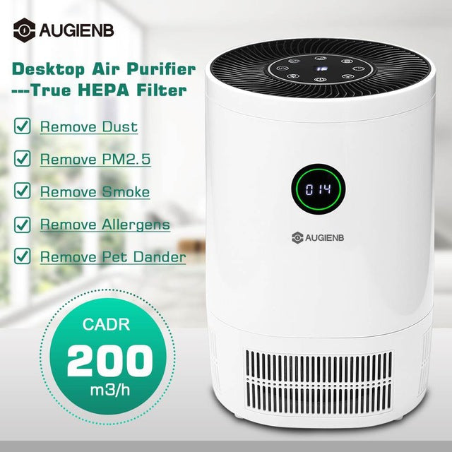 NatureFlow Remove Viruses, Bacteria, Odors, & Smoke From Air - Activated Charcoal Home Air Purifer HEPA Filter