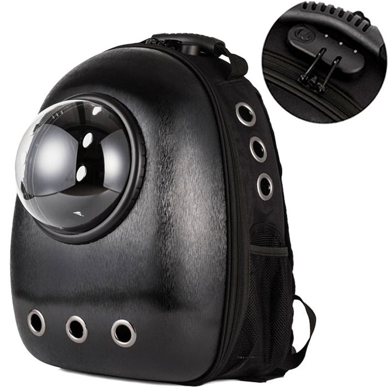 Space Kitty! Moon View Astronaut Cat Backpack Bubble Capsule Pet Carrier