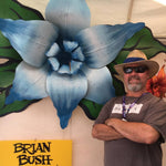 Brian Bush - Carnival Sculpture -  Giant Blue Float Flower