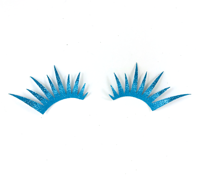 Blue Glitter Lashes