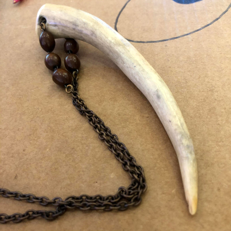 Lux Necklace - Giant Antler - Deadstock Charm