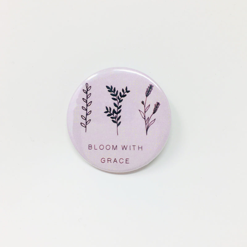 Bloom With Grace Button
