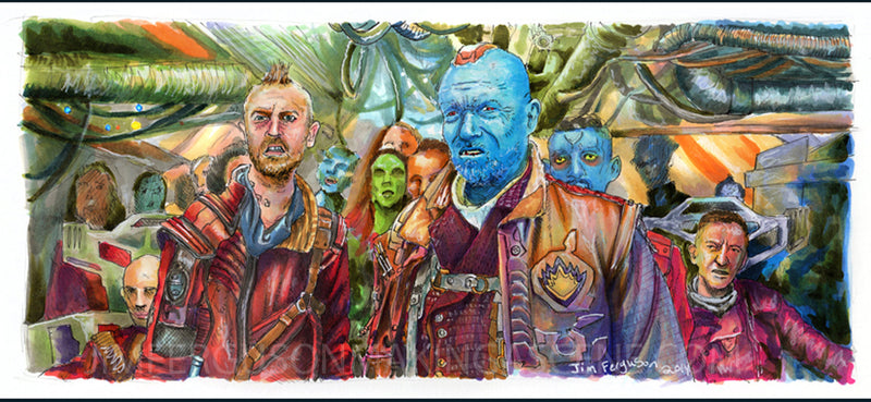Guardians of the Galaxy - Jim Ferguson Print