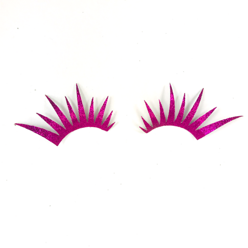 Hot Pink Glitter Lashes