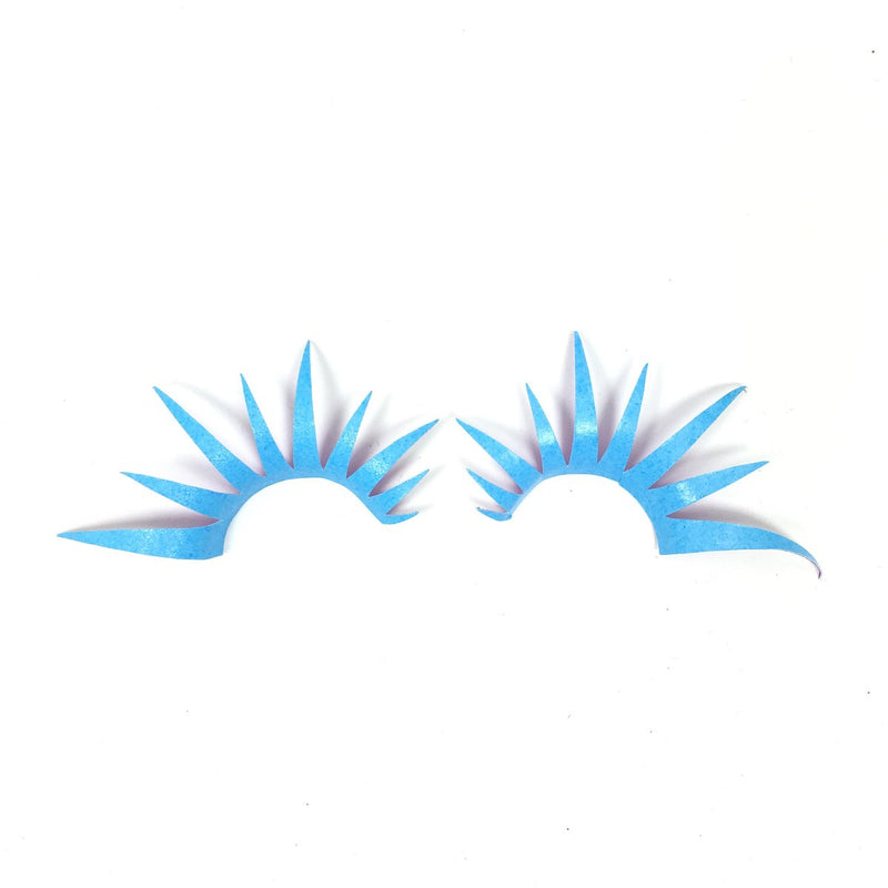 Matte Blue UV Lashes
