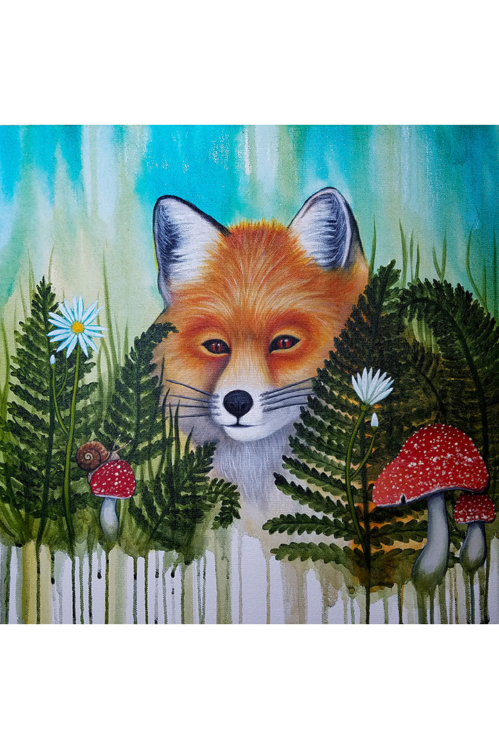 Mischief Fox Print By Heather Marie Dickens