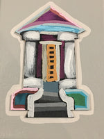 Paper House on Canvas by Heather Mattingly