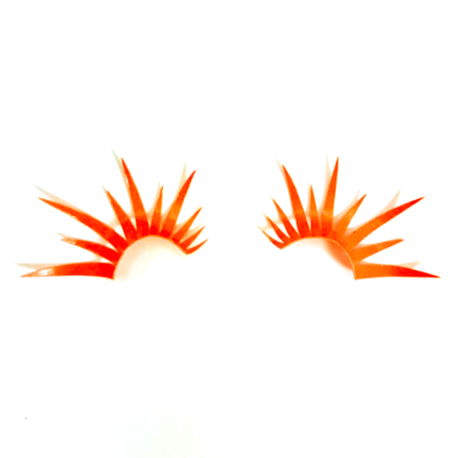 Neon Orange UV Lashes