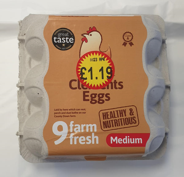 Clements Eggs 9 Medium