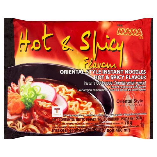 Mama Hot & Spicy Flavour Noodles 90g