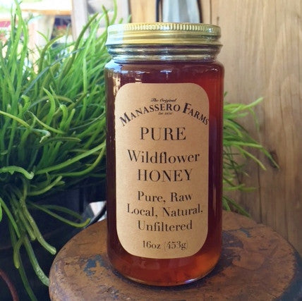 Manassero Farms Raw Organic Honey - 16oz