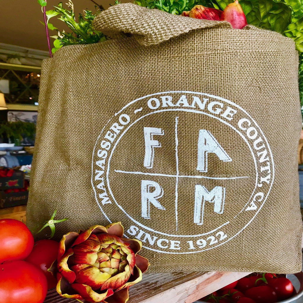 NEW Manassero Farms Burlap Tote
