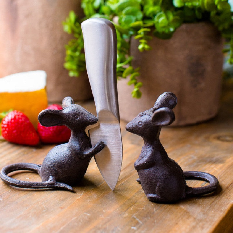"""Cheese Plate"" Mice Pair"