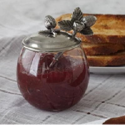 Vagabond House Strawberry Jam Jar with Spoon