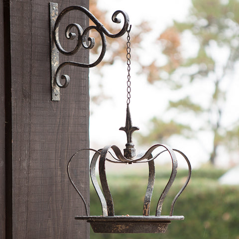 Hanging Crown Bird Feeder