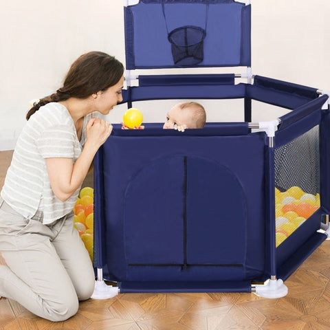 Baby PlayPen Fence, Baby Play Yard, Portable, Safe, Washable for Indoor and Outdoor