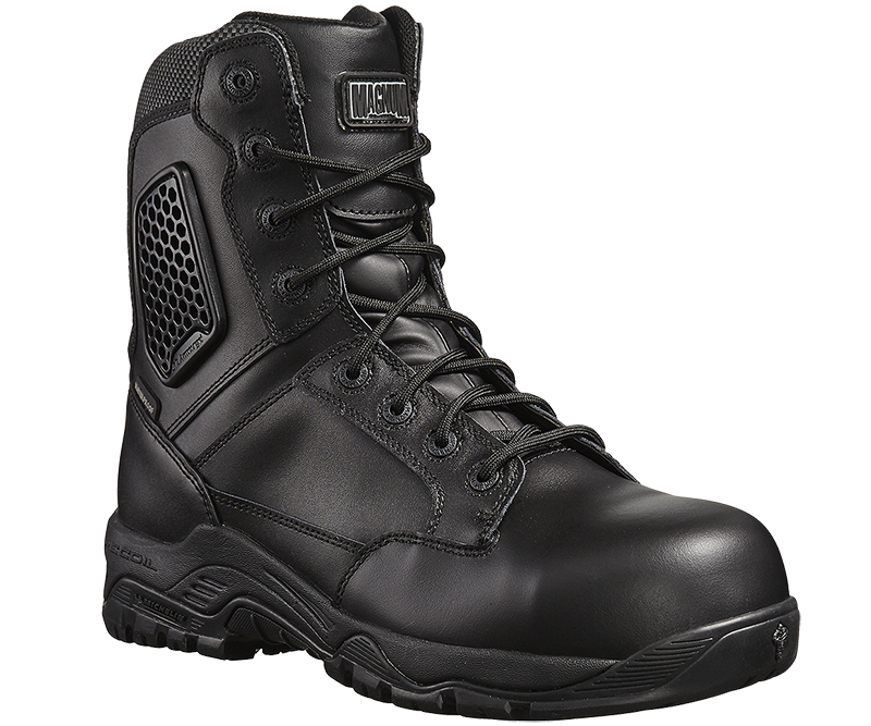 Strike Force 8.0 Waterproof Side-Zip Composite Toe & Plate Uniform Safety Boot