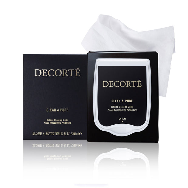 Decorté Cosmetics UK CLEAN & PURE REFINING CLEANSING CLOTHS